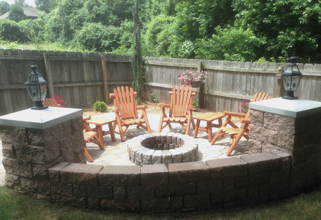 fire pit and new patio