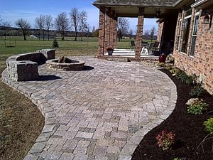 paver patio by Creation Lawn and Landscape