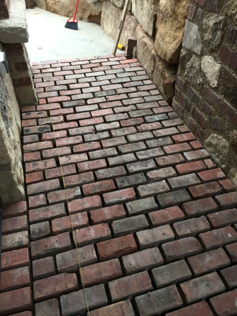 brick paved walkway